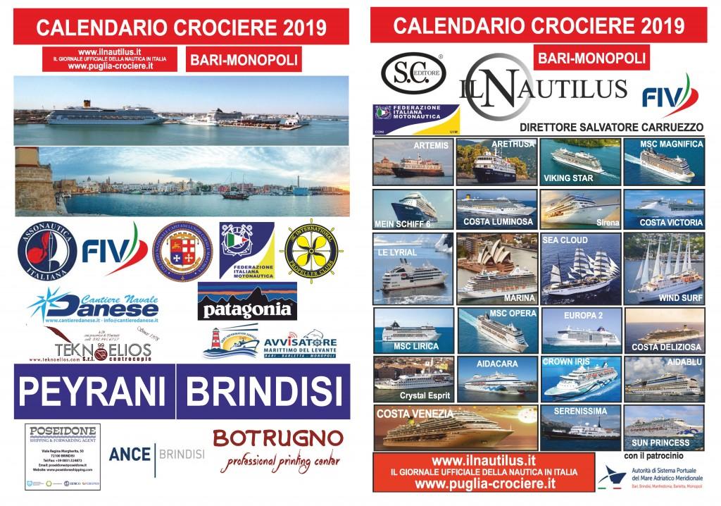 Calendario Crociere Brindisi 2021 In distribuzione i nuovi calendari delle crociere per Bari